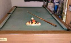 8'' Pool Table for sale $450 or better offer....the brand is Windsor by Brunswick pool table is in fair condition..green color part from top of pool table is faded Im selling it because I dont have any room for it anymore since I moved and I just have it
