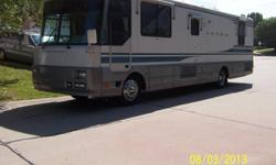 1995 Winnebago Luxor 37' Cummons 300 HP Turbo Diesel Motorhome. This Luxury Motorhome has only 85,000 miles, Allison Six speed Automatic transmission, New Shocks, New Tires, Air ride, Air brakes, automatic hydrolic leveling, 22.5 tires; New Winshields,