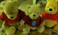 I have a few stuff animals, winnie the pooh's. All in great like new condition, smoke free home, not played with. for all is $12