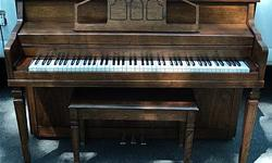 """* Walnut Finish * Original Matching Bench * Plays Well, Very Even Feel Across the Entire Keyboard * Built in 1979 * Serial Number: 444355 * Dimensions: width: 59"""" x height: 41"""" x depth: 24 1/4"""" * Owned by a Piano Tuner-Technician * Located in North"""
