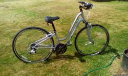 beautiful deluxe new womans trek bike with accessories,will accept best offer