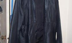 Woman?s leather jacket, real leather. Bought it new, worn only once. Size is XL. $40.