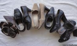 Original owner. Sizes are 7.5 medium. Some shoes indicate slight wear. Others like new. Prices vary per pair depending on condition and brand. Will negotiate. Pesaro, Westies, Sofft, Munro, Pierre Dumas, Tahari, Aldo, Unisa (Brazil), Easy Spirit,