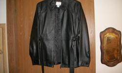 east 5th women's petite/medium genuine leather jacket. like new, only worn once. paid $225.00 asking $125.00 contact # () -