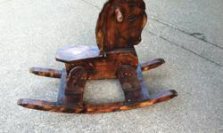 Wooden rocking horse, toddler size...