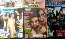 WWE - WWF - PWI  Magazines //  8 Magazines  //  $20.00 for all  // Condition: Good WWE Smackdown / Jan. 2004 WWE  / Mar. 2003 WWE / Sept. 2002 WWE Raw / Holiday 2003 WWF / Dec. 1988 WWF / April 2002 WWF / May 2002
