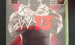 Received two copies of WWE13 for my birthday for Xbox 360, no gift receipt. Brand new condition, never opened, in plastic. Includes Mike Tyson playable superstar. Awesome game btw :) Email/Call/Text anytime --