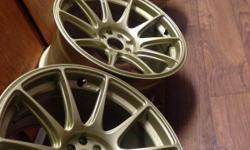 Item: XXR 527 Gold (Concave)  Size: 17x9.75  Lug Pattern: 4x100/4x114.3  Offset: +25  Wheels: (set of 4) Condition: Brand New  Include: 4 XXR center caps (not in pics) Additional Notes: These wheels are brand new, I bought
