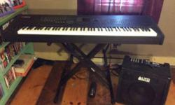 I am selling a Yamaha Motif XF8 Keyboard, Alto Kick 12 Amplifier and a Proline Keyboard Stand all in one package for a price of $2490.00 ono. The package consists of:-  1. Yamaha Motif XF8 88 Key Keyboard which is in excellent condition, almost