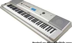 This is a 76 key Piano Grand (Yamaha DGX-230. YPG-235), Keyboard stand, Sustain Pedal, Power Cord, and Instruction How-to-use manual and instructional CDs. Yamaha Education Suite; Performance assistant technology; USB and MIDI connectivity; 489 instrument