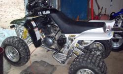 2005 Yamaha Warrior 350 4-wheeler (last year Yamaha made the Warrior) 6 speed, new HMF muffler, new directional rotor and brakes, new tires and rims- runs good