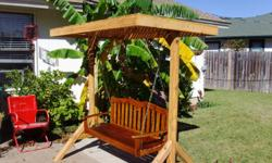 Custom made yard swings withmetal or wooden swing.Stained with waterproof seal. Taking orders . 2-3 day turnaround. Will deliver for mileage charge.