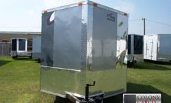 Stock#:custom order Serial#:order Description ::: extra included options: 1.) Color is silver mist 2.) Upgrade to 030 gauge exterior 3.) V-nose front w/ solid wall construction 4.) Rear ramp w/ ramp extension flap & spring assist 5.) L.e.d. Tail lights
