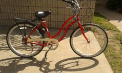 Beach cruiser, red. Need charger and device switch for motor.