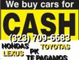 ANY MAKE YEAR OR MODEL RUNNING NOT RUNNING WE BUY THEM ALL PAPERS OR NO PAPERS TOP DOLLAR PAID ON THE SPOT FREE TOW OUR NUMBERS ARE (323) 709-6683.